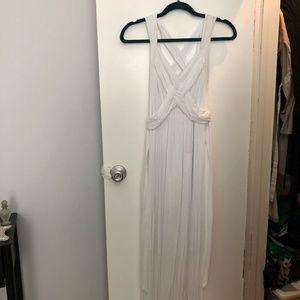Motherhood maternity white maxi dress